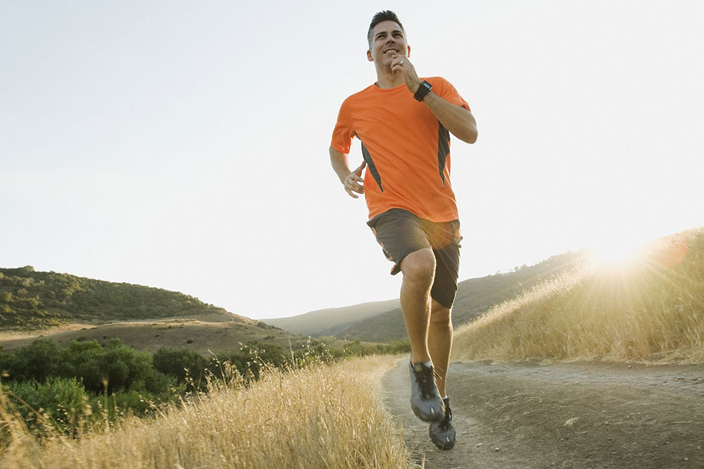 Man Running After Taking HGH and Testosterone at the Same Time