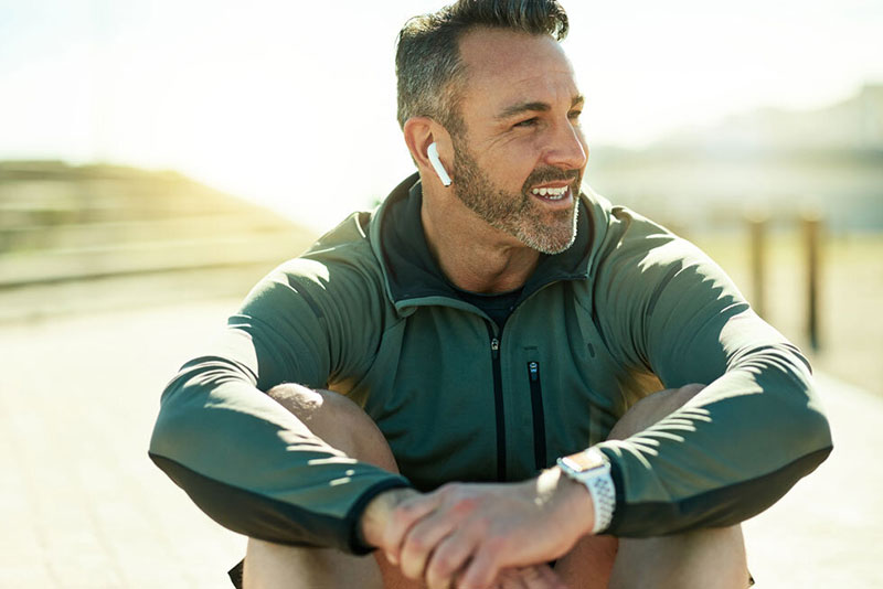 How Long Does Testosterone Therapy Take to Work Man with Earbuds