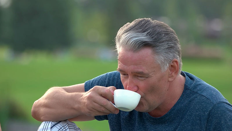 Testosterone Therapy Covered By Insurance Mature Man Drinking Tea